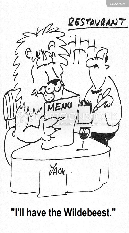 wildebeests cartoon