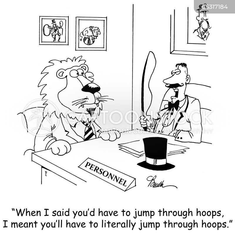 jump through hoops cartoon
