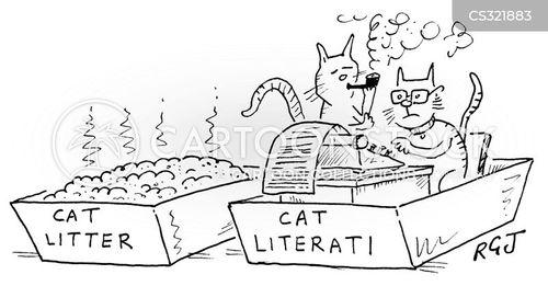cat litter trays cartoon