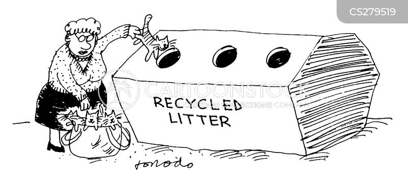 recycle bins cartoon