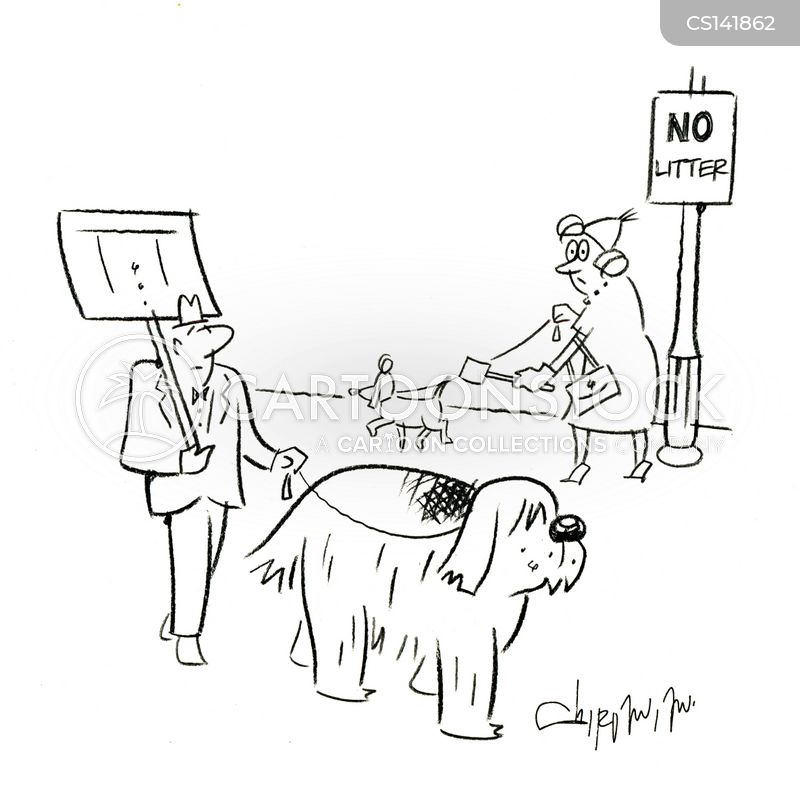 no litter signs cartoon