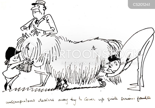 horse dealer cartoon