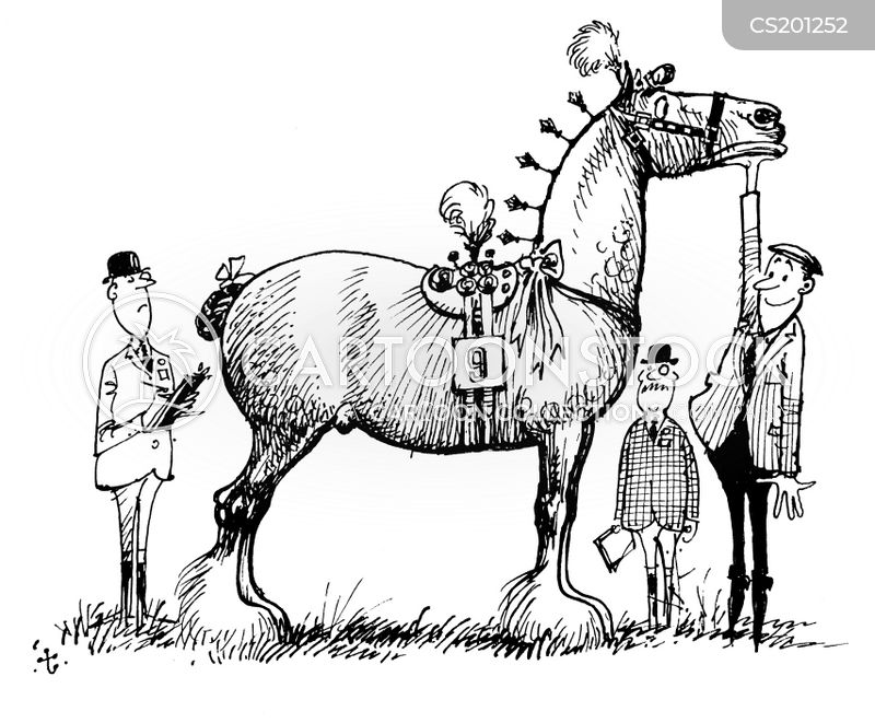 riding class cartoon