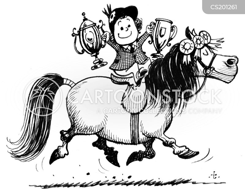horse jumper cartoon