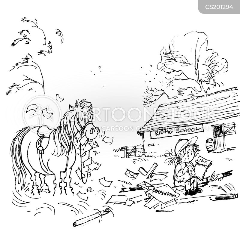riding lessons cartoon