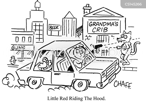 drive by cartoon