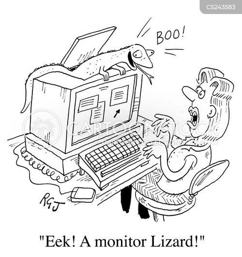 monitor lizard cartoon