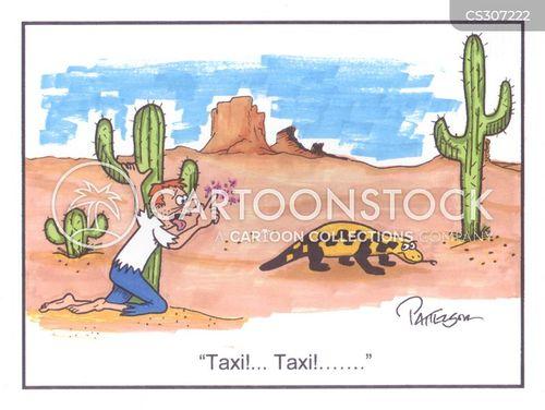 hailing a taxi cartoon