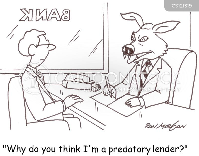 predatory lender cartoon