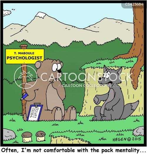 pack mentality cartoon