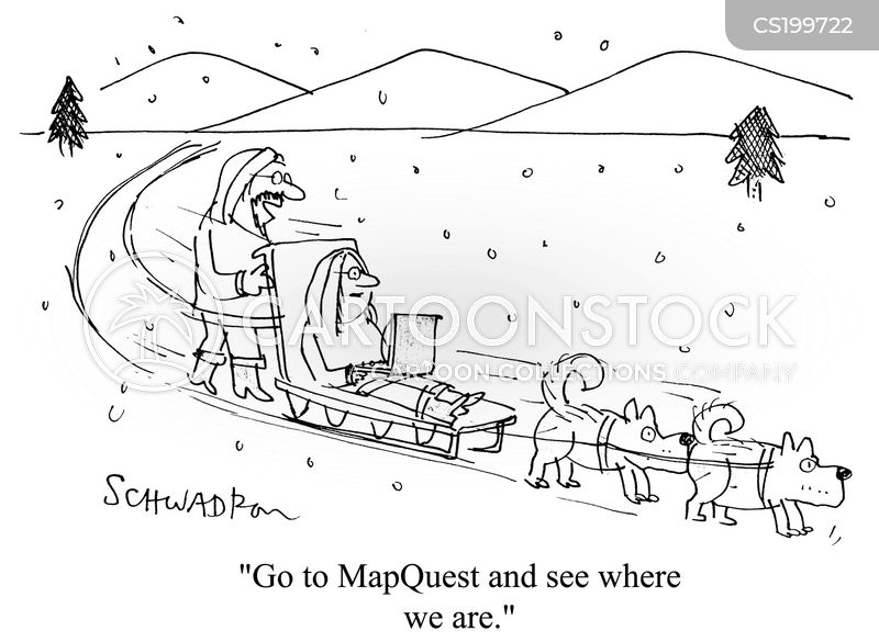 Map Quest Cartoons and Comics - funny pictures from CartoonStock on