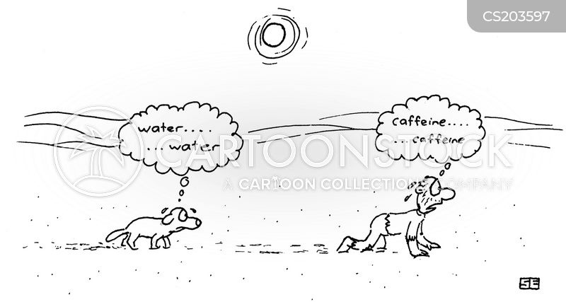 caffeine addict cartoon