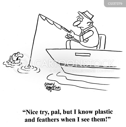 fishing plugs cartoon