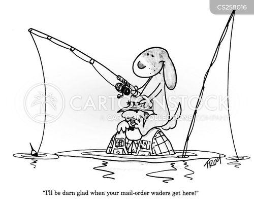 waders cartoon
