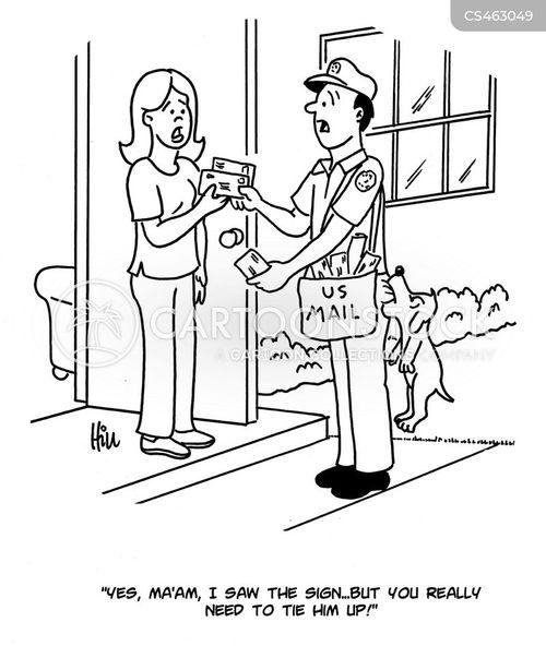 letter carrier cartoon