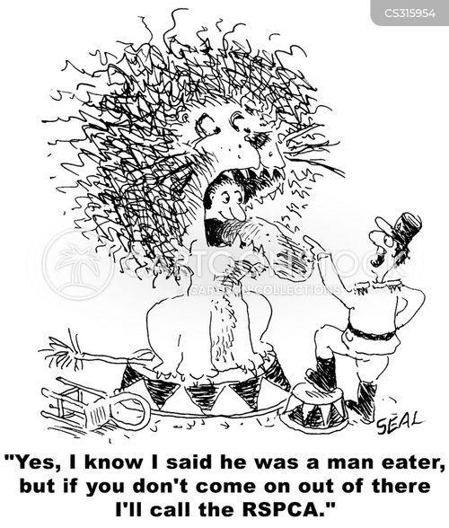 man-eating cartoon