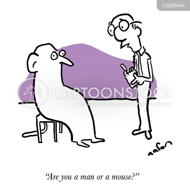 man or a mouse cartoon