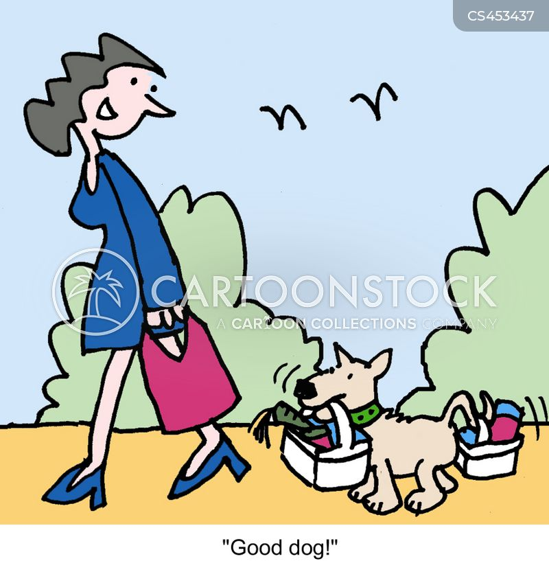 shopping bags cartoon