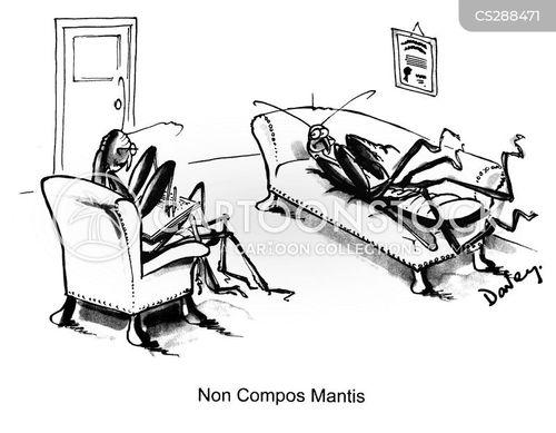 non compos mantis cartoon