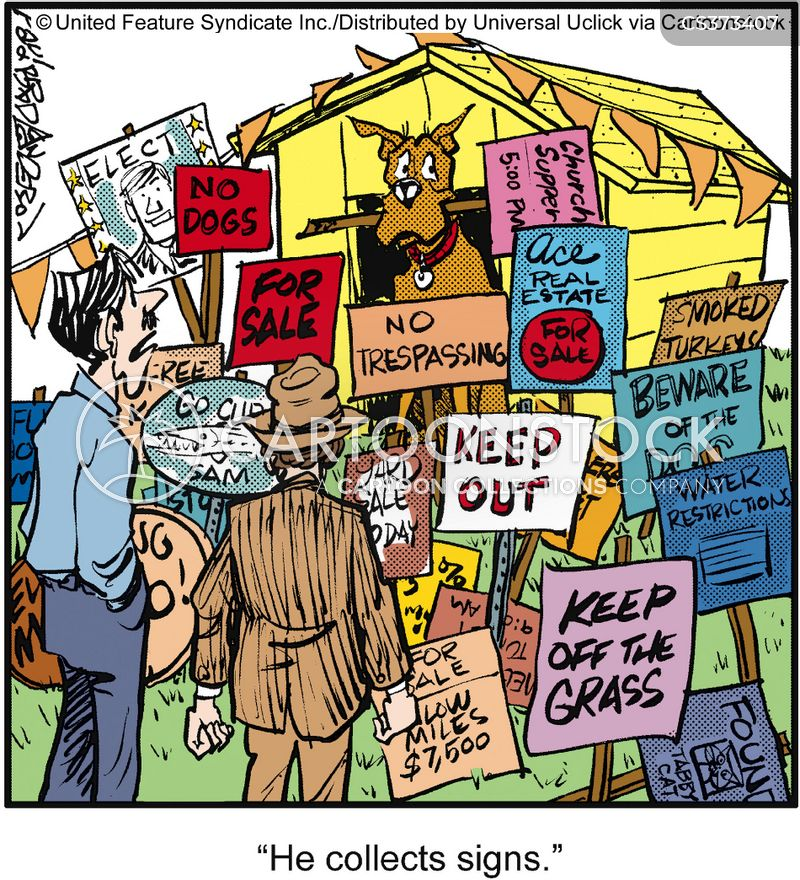 keep out cartoon