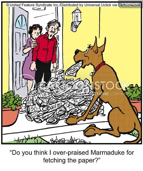 overenthusiastic cartoon