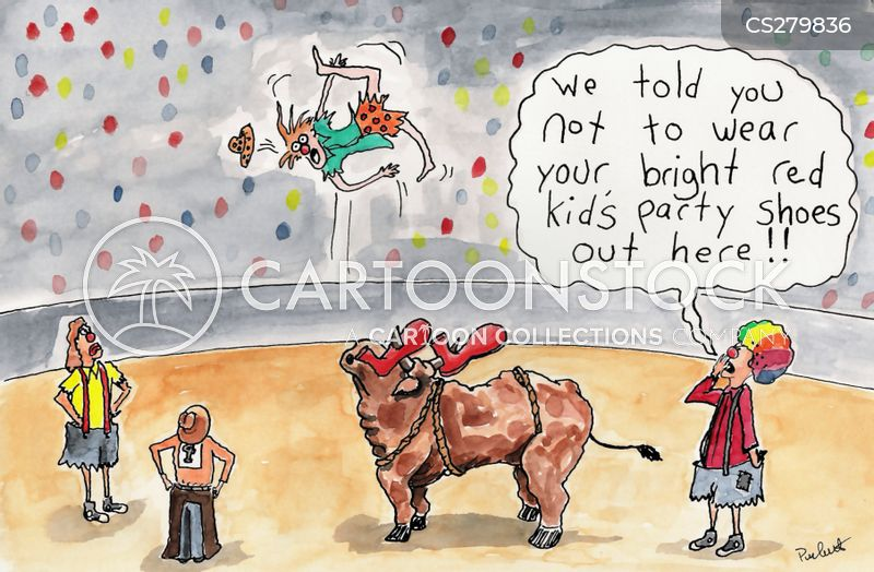 bull riding cartoon