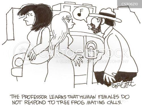 mating call cartoon