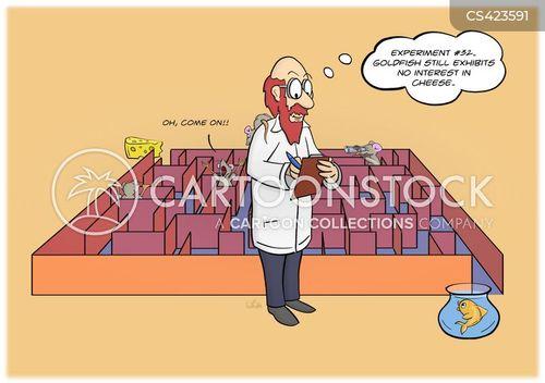 laboratory experiment cartoon