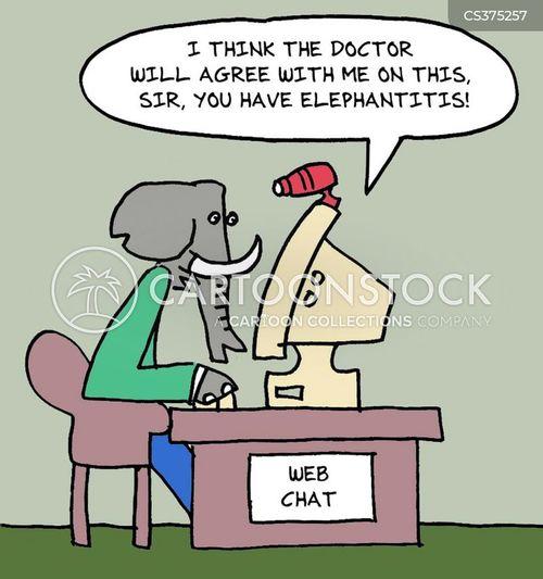web doctor cartoon