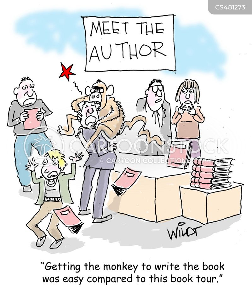 book tours cartoon