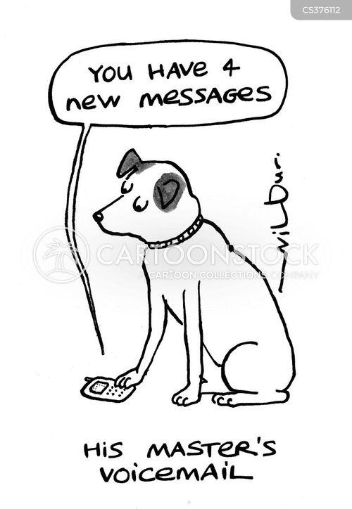 phoned cartoon