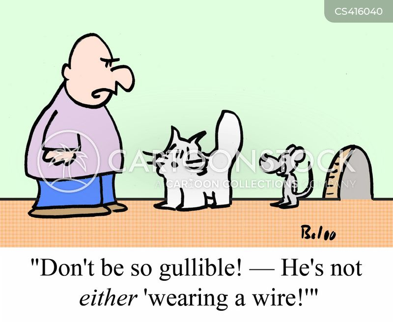 wear a wire cartoon