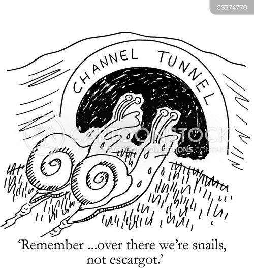 channel tunnel cartoon