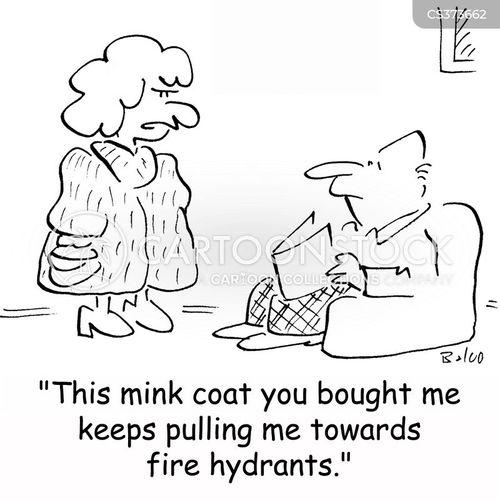 mink coats cartoon