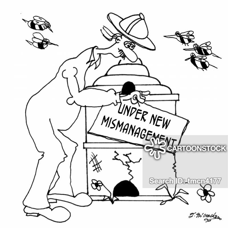 mismanage cartoon