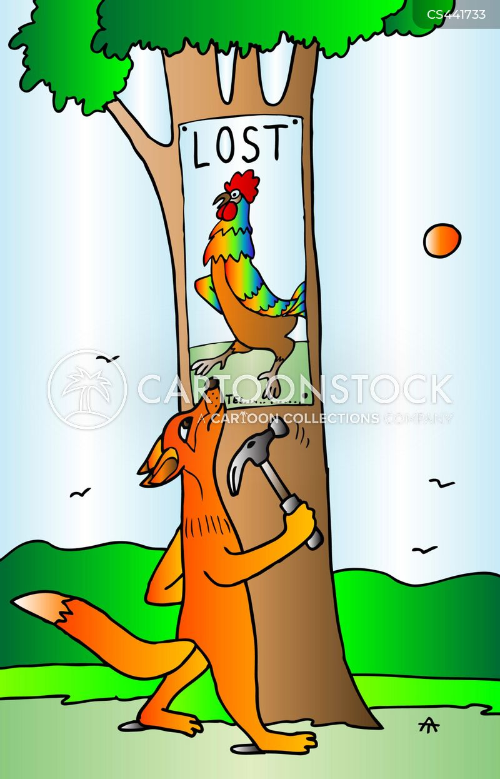 lost poster cartoon