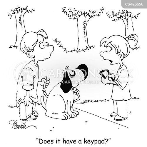 keypads cartoon