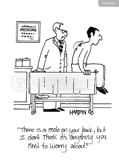 cancerous moles cartoon