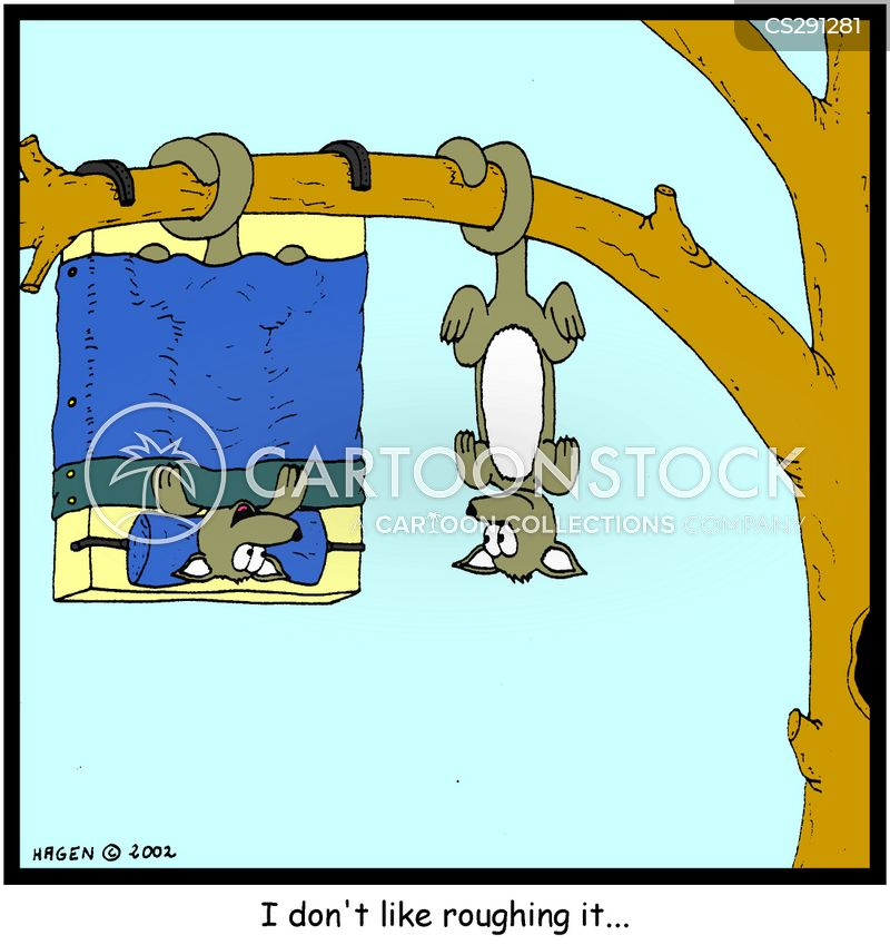 hanging by tail cartoon