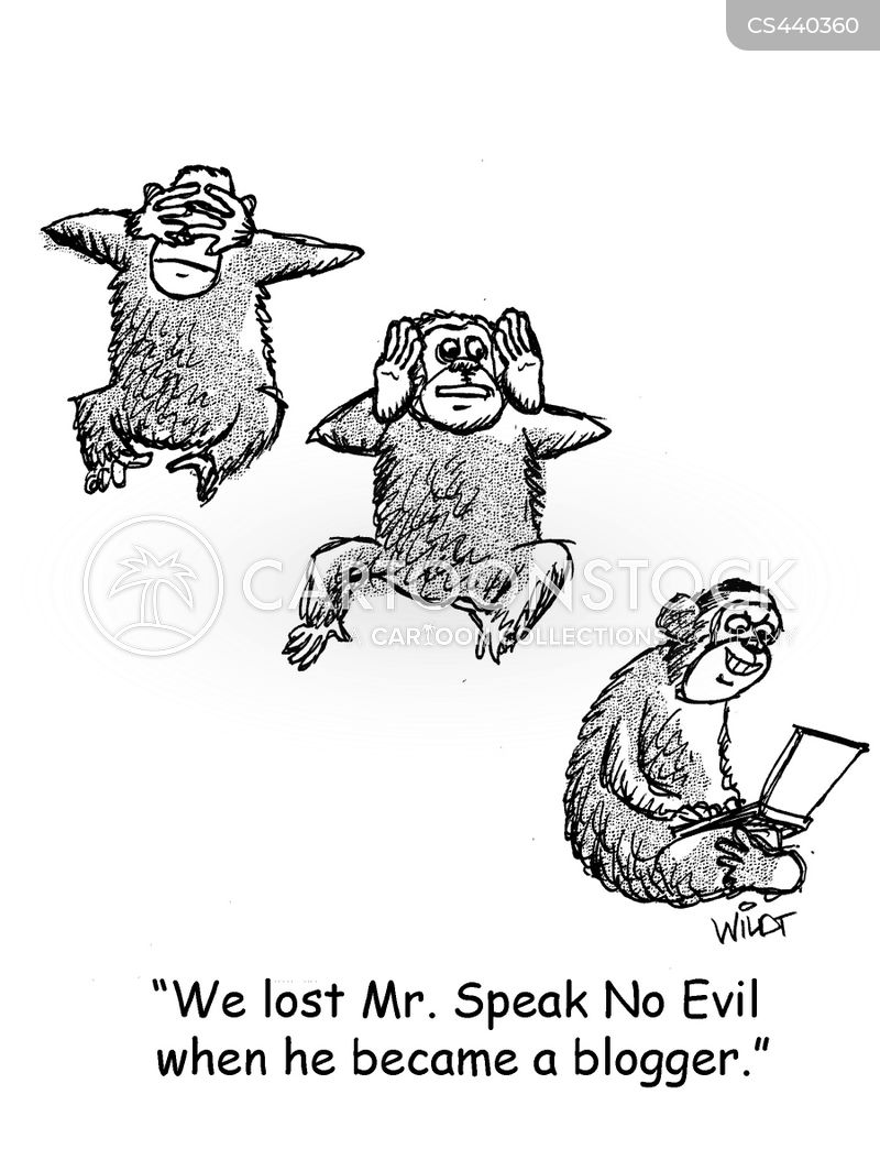 speak no evil cartoon