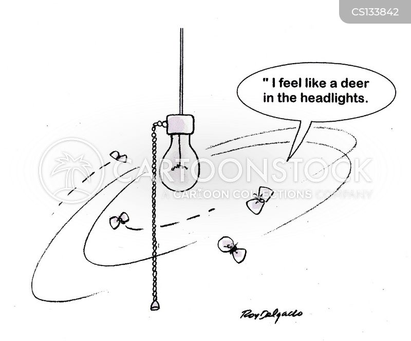 bright light cartoon