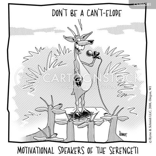 motivational speaking cartoon