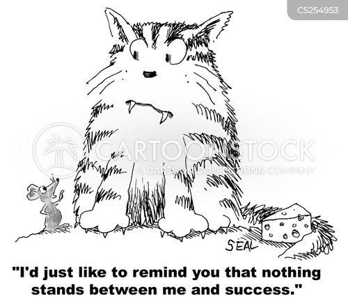 confrontational cartoon