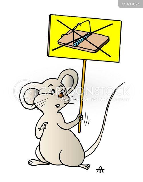 humane trap cartoon