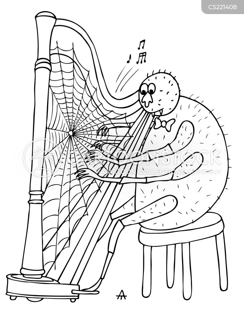 harpist cartoon