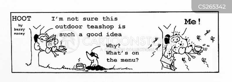 tea shops cartoon