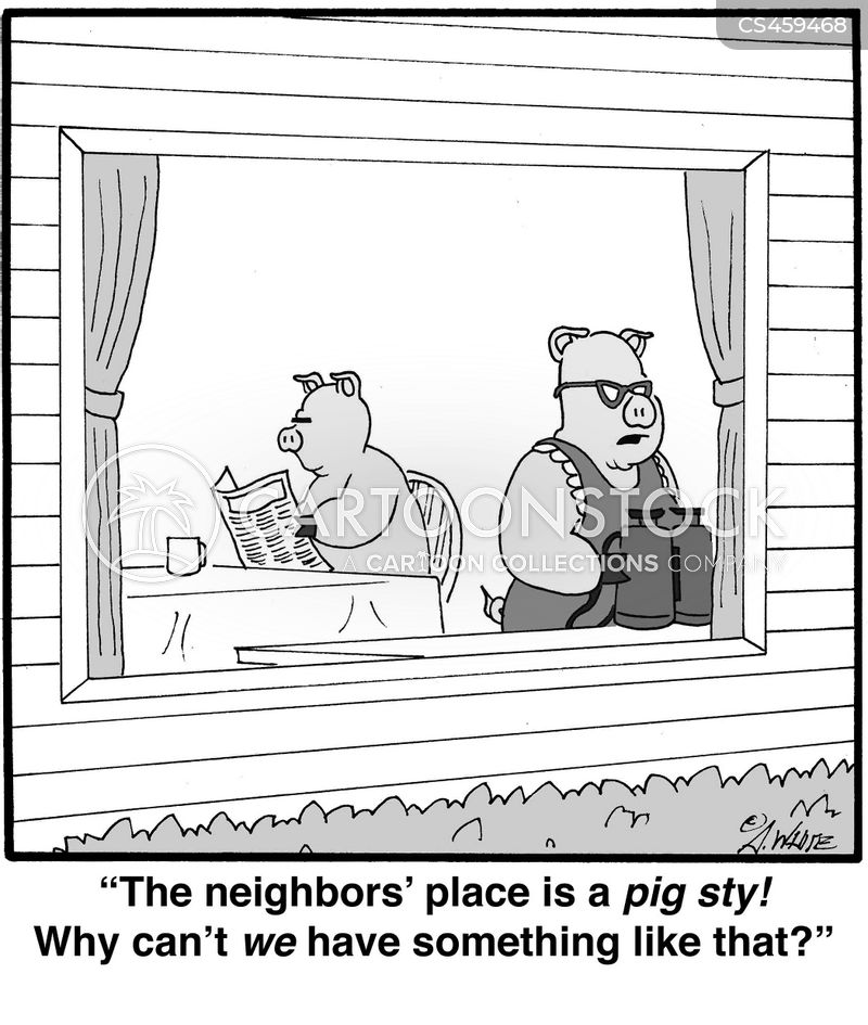 pigsty cartoon