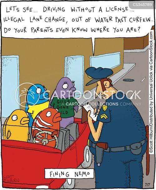 curfew cartoon