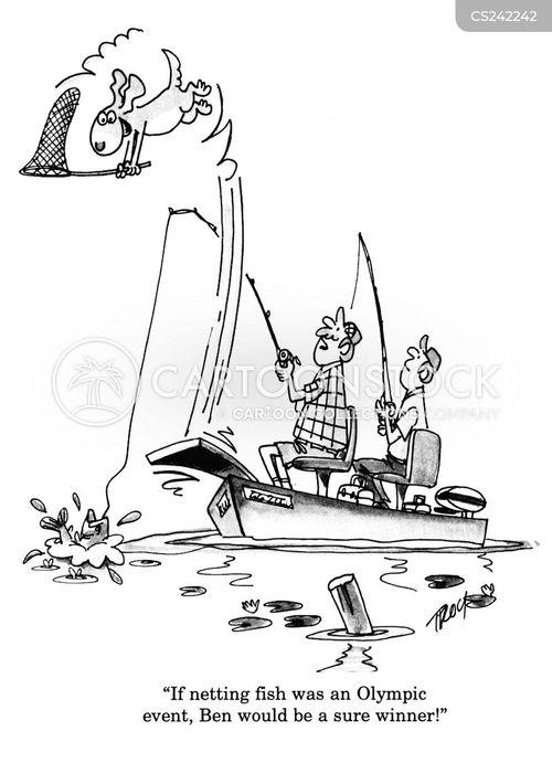 netting cartoon