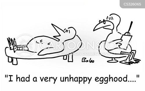 unhappy childhood cartoon